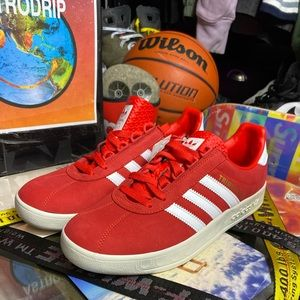 🆕 - Adidas 🇬🇧 Red Liverpool Trimm Trab - Sizes